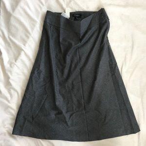 Talbots Italian flannel wool gray frayed skirt 10P